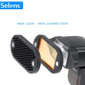 Selens-Seven-Color-Speedlite-Filter-Honeycomb-Grid-with-Magnetic-Rubber-Band-for-Yongnuo-Canon-Nikon-Flash